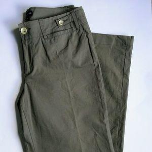 Banana Republic olive green wide leg pants